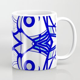 Blue morning - abstract decorative pattern Coffee Mug