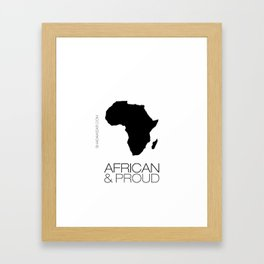 African & Proud Framed Art Print