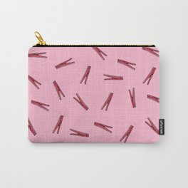 Clothes Pins // Pink on pink Carry-All Pouch