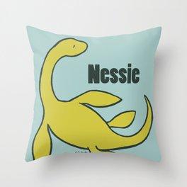 Nessie - The Loch Ness Monster (green) Throw Pillow