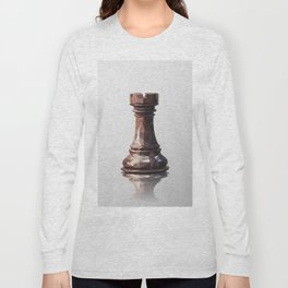 rook low poly Long Sleeve T-shirt