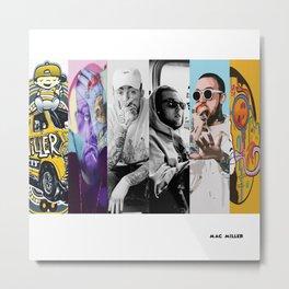 Mac Miller Album History Poster, Hypebeast Poster, Hip Hop Poster Metal Print