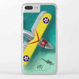 Duck in Trouble Clear iPhone Case