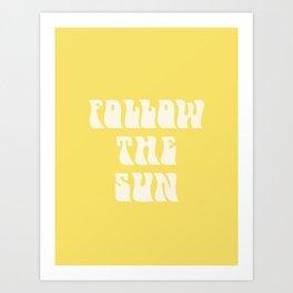 follow the sun - yellow Art Print