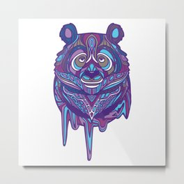 Melty Panda (Purple Variant) Metal Print