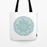 ohm Tote Bags featuring ohm pattern. by CGA InStudio
