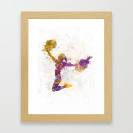 young woman cheerleader 03 Framed Art Print