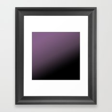 dark purple ombre Framed Art Print