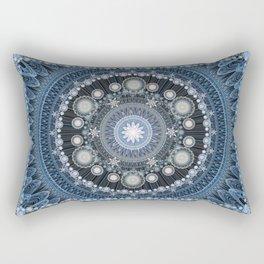 Fractorian Rug (Blue) Rectangular Pillow