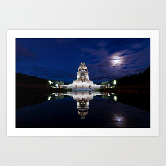 Monument of Battles of Nations- Germany - blue hour Art Print