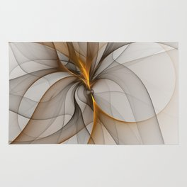 Elegant Chaos, Abstract Fractal Art Rug