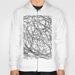Black line doodle single line Hoody