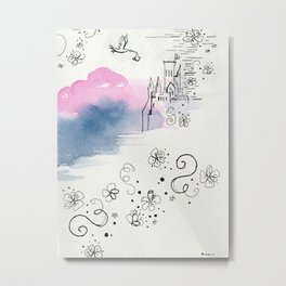 The arrival of the baby girl Metal Print