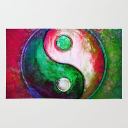 Yin Yang - Colorful Painting VII Rug