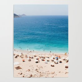 Beach, Coastal, Ocean, Sea, Water, Nature, Modern, Minimal, Interior, Wall art Poster