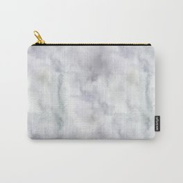 Abstract modern gray lavender watercolor pattern Carry-All Pouch