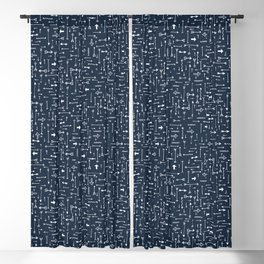 Every Which Way - Navy Blackout Curtain