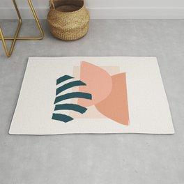 Abstract Mid Century Modern Minimal Shapes 08 Rug