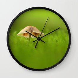 Mushroom In The Evening Moss Wall Clock