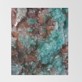 Dark Rust & Teal Quartz Throw Blanket
