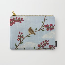 Robin on Plumb Tree Carry-All Pouch