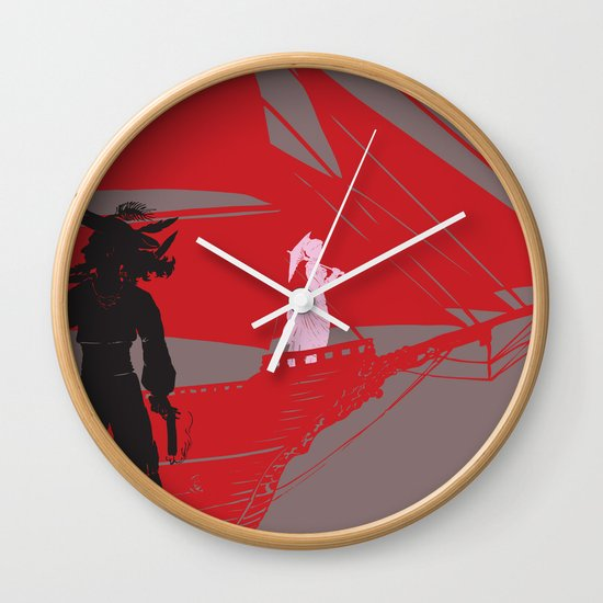 a piratical diversion Wall Clock