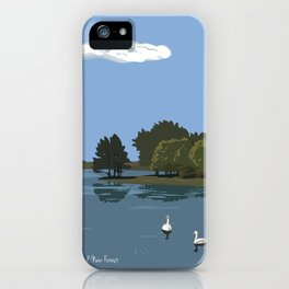 Hatchet Pond, New Forest iPhone Case