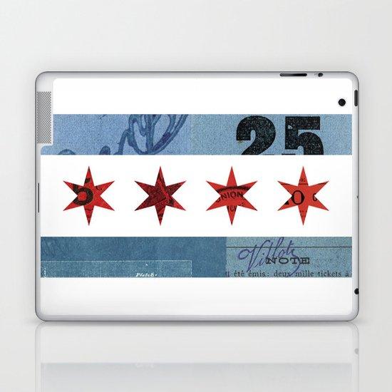 Ephemeral Chicago Flag Laptop & iPad Skin