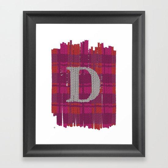 Winter clothes. Letter D. Framed Art Print