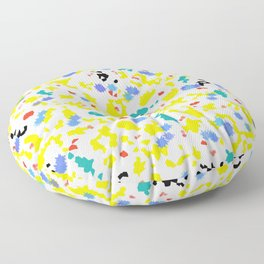 Colorful Blobs Floor Pillow