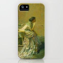 The Gossip by Thomas Wilmer Dewing - Victorian Belle Époque Retro Vintage Fine Art iPhone Case