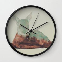 Resting Fawn Wall Clock