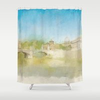 rome Shower Curtains featuring Rome by FarbCafé