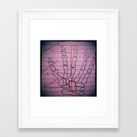 biology Framed Art Prints featuring Biology by Molly Jean