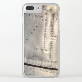 Aluminium Aircraft Skin Abstract Texture Clear iPhone Case