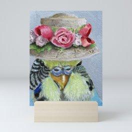 Parakeet Hat Parade #4 Rosie Mini Art Print