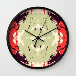 Akihime - Abstract Rorschach Butterfly Wall Clock