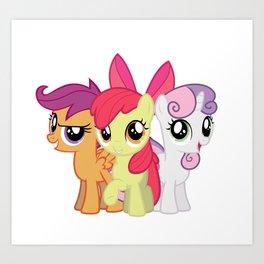 My Little Pony: Cutie Mark Crusaders Art Print
