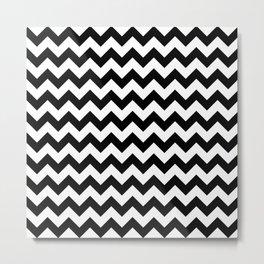 Black Chevron Metal Print