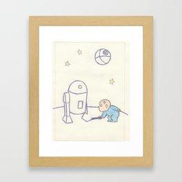 That's No Moon Framed Art Print