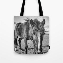 The black horse Tote Bag