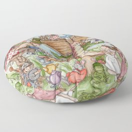 Alice in Wonderland Floor Pillow