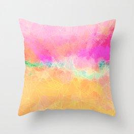 Modern Pastel Rainbow Cascade Abstract Throw Pillow
