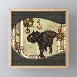 Amazing steampunk elefant Framed Mini Art Print