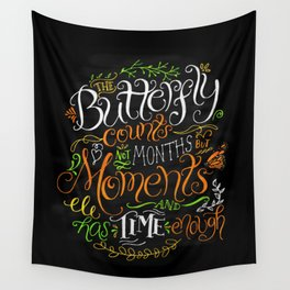 Count Moments Wall Tapestry