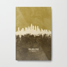 Philadelphia Pennsylvania Skyline Metal Print