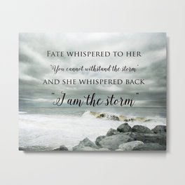 Fate Whispered to Her Metal Print