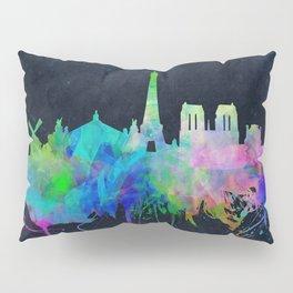 Paris skyline waterolor 2 Pillow Sham