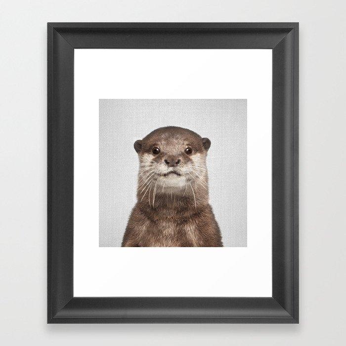 Otter - Colorful Gerahmter Kunstdruck