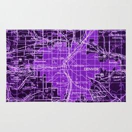 Denver Colorado map, year 1958, purple filter Rug